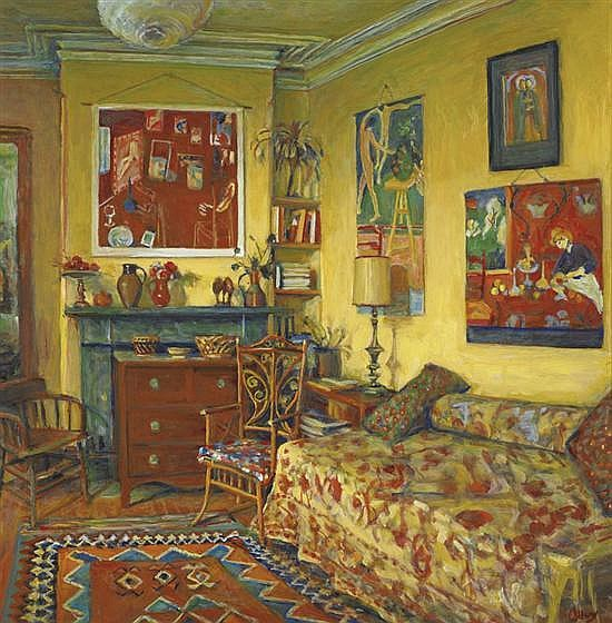 Margaret Olley 1923-2011 THE YELLOW ROOM (1991) oil on composition board
