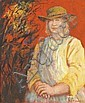 Russell Drysdale 1912-1981 COUNTRY WOMAN oil on canvas