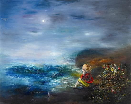 David Boyd 1924-2011 THE DREAMER ON THE CLIFF (1970) oil on canvas