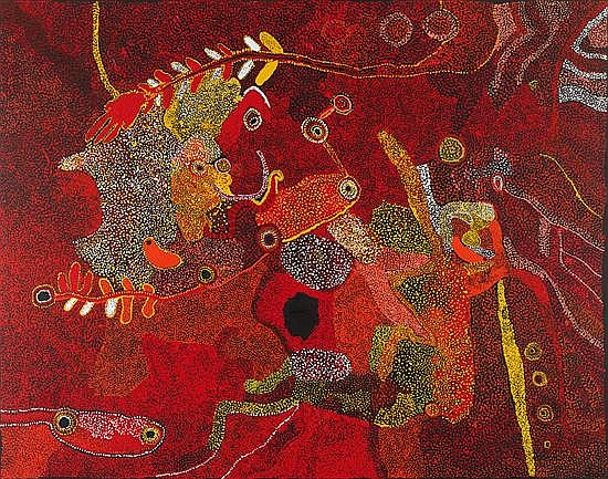 Jimmy Baker circa 1915-2010 BUSH FIG DREAMING (2008) synthetic polymer paint on linen