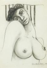 § BRETT WHITELEY 1939-1992 Nude 1979 pencil on paper