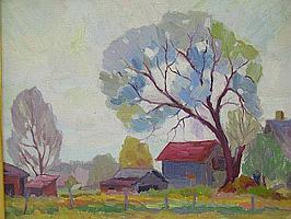 1928 OIL BY OHIO ARTIST ALVIN ROBERT RAFFEL