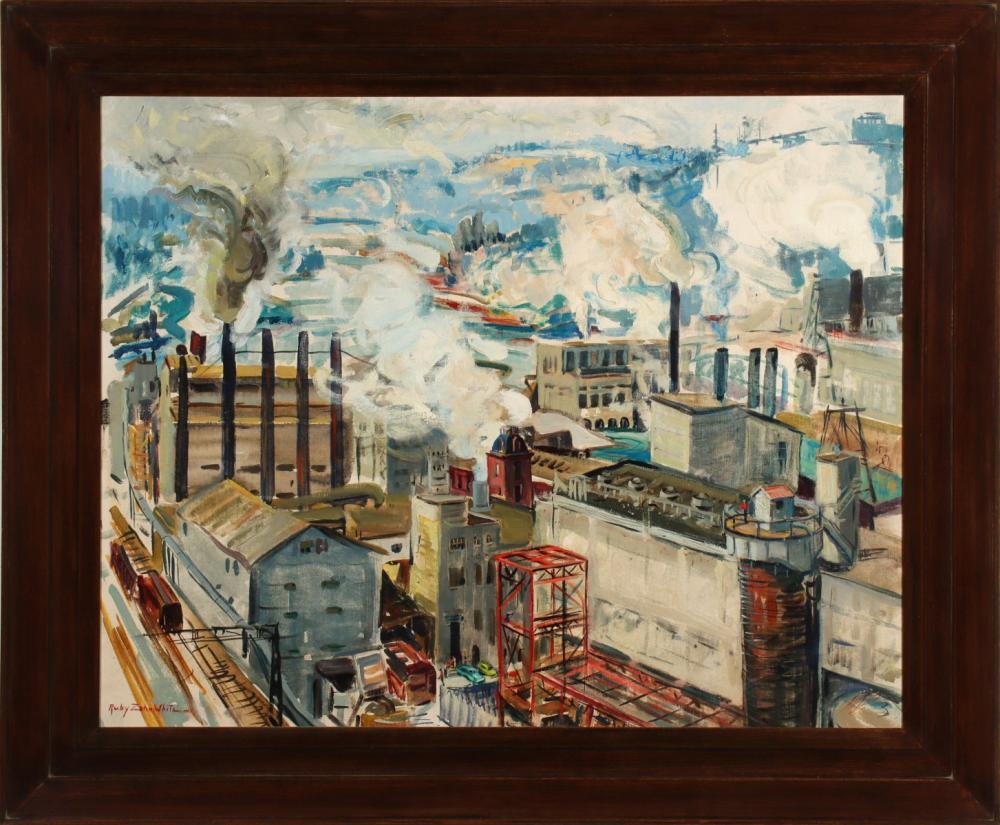 RUBY ZAHN WHITE (1899-1986) OIL ON CANVAS
