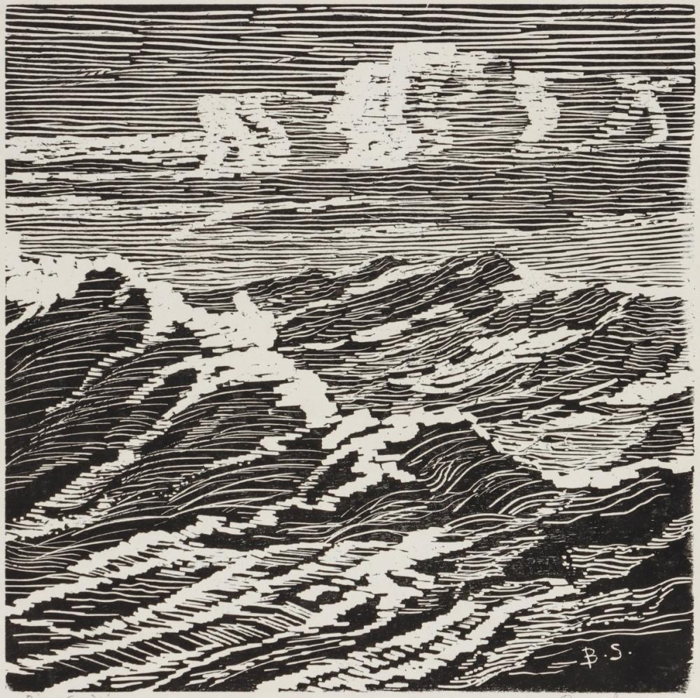 BIRGER SANDZEN (1871-1954) RARE EARLY BLOCK PRINT