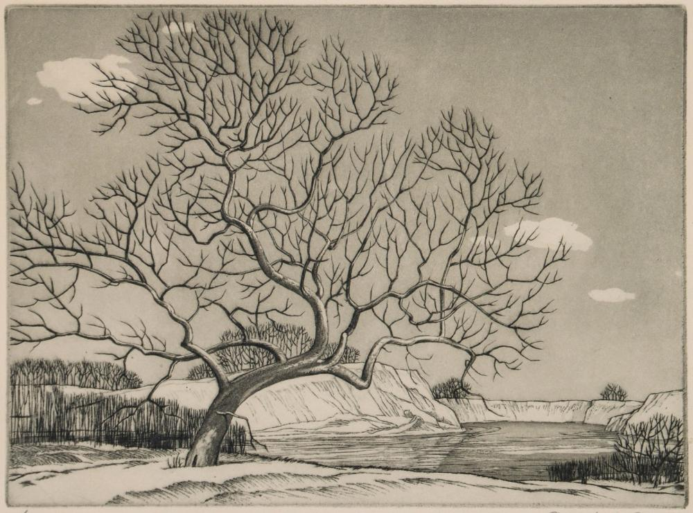 CHARLES M. CAPPS (1898-1981) PENCIL SIGNED ETCHING