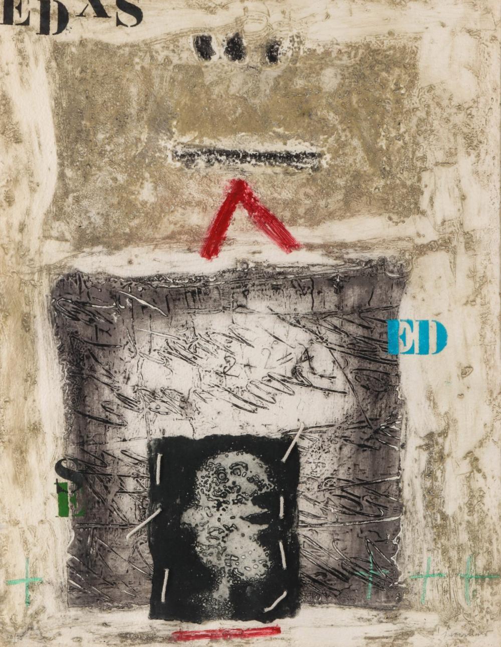 JAMES COIGNARD (1925-2008) PENCIL SIGNED ETCHING