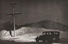 MARTIN LEWIS (1881-1962) PENCIL SIGNED AQUATINT