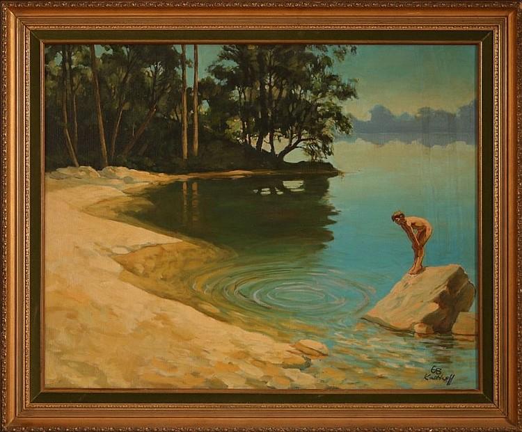 Robert Kalthoff 1936 Oil On Canvas