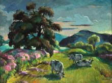 FREDERICK BUCHHOLZ (1901-1983) OIL ON CANVAS