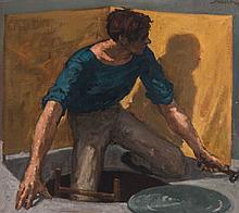 EDWARD MELCARTH (1914-1973) OIL ON CANVAS
