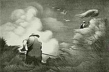 BERNARD STEFFEN (1907-1980) PENCIL SIGNED LITHO
