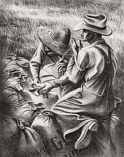 JOSEPH JOHN 'JOE' JONES (1909-1963) PENCIL SIGNED LITHOGRAPH