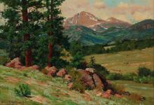 CHARLES PARTRIDGE ADAMS (1848-1952) OIL ON CANVAS