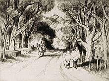 GENE KLOSS (1903-1996)  PENCIL SIGNED DRYPOINT