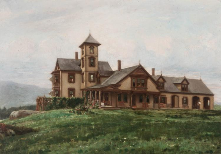 OTTO GRUNDMANN (1844-1890) OIL ON CANVAS
