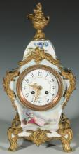 A FINE 19THC. FRENCH HAND PAINTED PORCELAIN CLOCK
