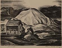 GLENN GOLTON (1897-1988) PENCIL SIGNED LITHOGRAPH