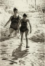 MARTIN LEWIS (1881-1962) PENCIL SIGNED DRYPOINT ETCHING