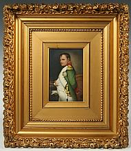 A PORCELAIN PLAQUE PORTRAIT OF NAPOLEON BONAPARTE