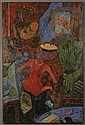 KE SOOK LEE (1941 - ) OIL ON CANVAS
