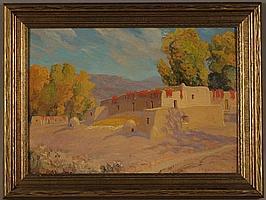 SHELDON PARSONS (1866-1943) OIL ON BOARD
