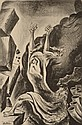 WILLIAM GROPPER (1897-1977) PENCIL SIGNED LITHOGRAPH 'JOSHUA FOUGHT THE BATTLE OF JERICHO'