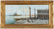 NICHOLAS BRIGANTI (1861 - 1944) VENETIAN SCENE OIL