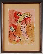 MARC CHAGALL (1887-1985) COLOR LITHOGRAPH CIRCA 1960