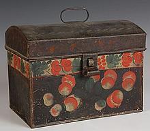 19TH CENTURY AMERICAN TOLE DOCUMENT BOX