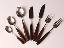 LAUFFER NORWAY 'PALISADES' STAINLESS ROSEWOOD FLATWARE