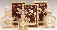THREE GUERLAINE L'HEURE BLEUE BOXED PERFUME BOTTLES