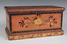 19TH CENTURY PAINTED WOOD BOX
