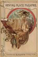 THEATRE PROGRAM COVER AFTER ALPHONSE MUCHA (1860-1939)