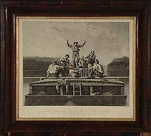 GEORGE CALEB BINGHAM (1811-1879) 'JOLLY FLAT BOATMEN'