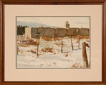 BILL HARRISON (1934-1985 Kansas) WATERCOLOR ON PAPER