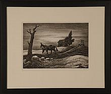 THOMAS HART BENTON (1889-1975) PENCIL SIGNED LITHOGRAPH