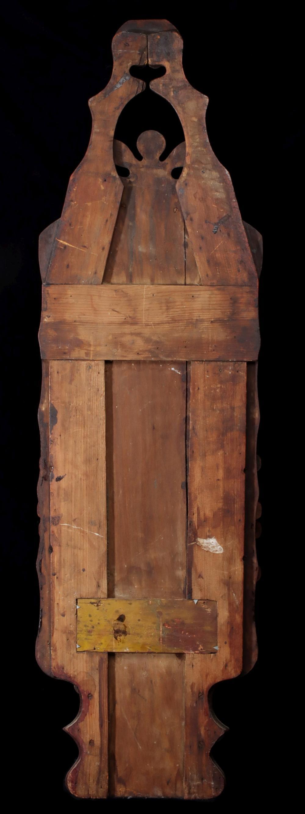 AN ELABORATE MULTI-TIER TRAMP ART WALL BOX/MIRROR