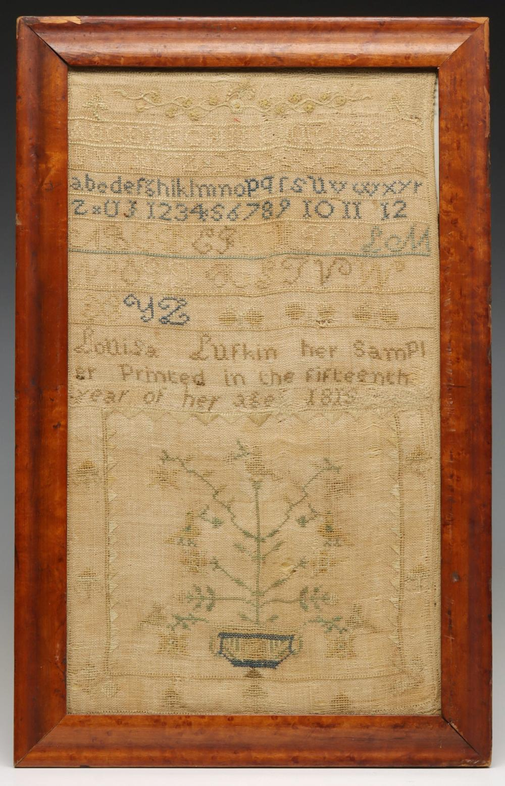 THE 1819 CROSS STITCH SAMPLER OF LOUISA LUFKIN, AGE 15