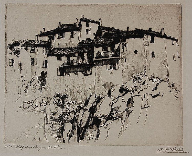 ALONZO C. WEBB (1888- ) PENCIL SIGNED