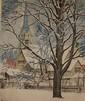LEON PESCHERET (1892-1971) PENCIL SIGNED COLOR ETCHING