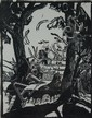 BARBARA LATHAM (1896-1989) PENCIL SIGNED BLOCK PRINT