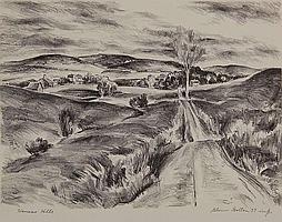 GLENN GOLTON (1897-1988 Kansas) PENCIL SIGNED LITHOGRAPH