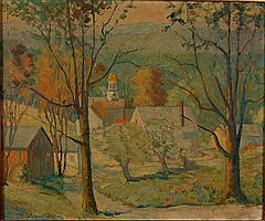 SAMUEL E. ARMOUR (born 1890 Massachusetts) OIL ON CANVAS