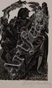 FRITZ EICHENBERG (1901-1990) PENCIL SIGNED BLOCK PRINT