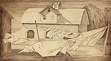 ETHEL MAGAFAN (1916-1993) PENCIL SIGNED ETCHING