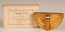 COTY 'FLYING COLORS' VANITY CASE WITH ORIGINAL BOX