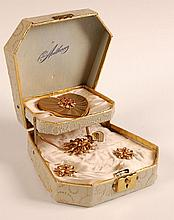 ANTHONY ORIGINAL COMPACT & JEWELRY GIFT SET W BOX