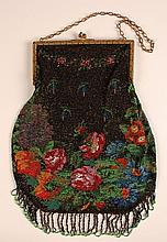 ANTIQUE BEAD KNITTED BAG