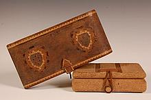 LEATHER AND CORK VANITY BOXES