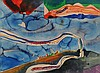 KEITH CROWN (1918 - 2010) ABSTRACT WATERCOLOR, Keith Allen Jr Crown, Click for value